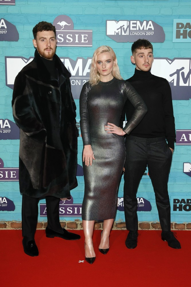Clean Bandit - MTV EMA 2017 - Red Carpet Arrivals - Hit Channel