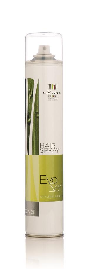 Σπρέι μαλλιών για λάμψη, δυνατό κράτημα και ελαστικό αποτέλεσμα.