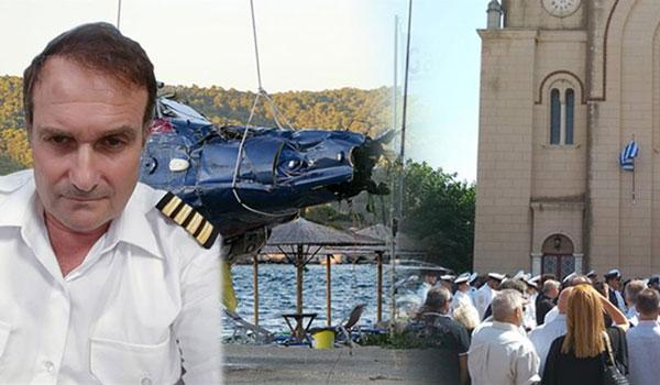 Αποτέλεσμα εικόνας για Θρήνος στην κηδεία του πιλότου από την τραγωδία με το ελικόπτερο 22/08/2019